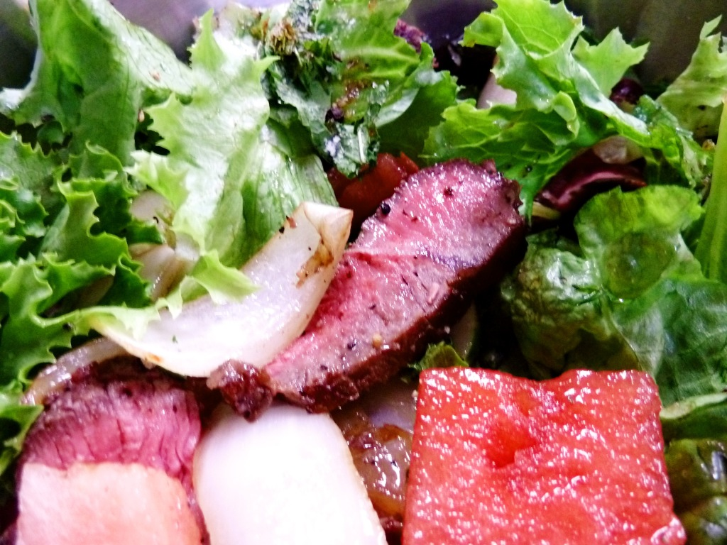 watermelon beef salad